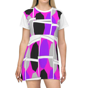 Royal Spread T-shirt Dress - Tie-Fly