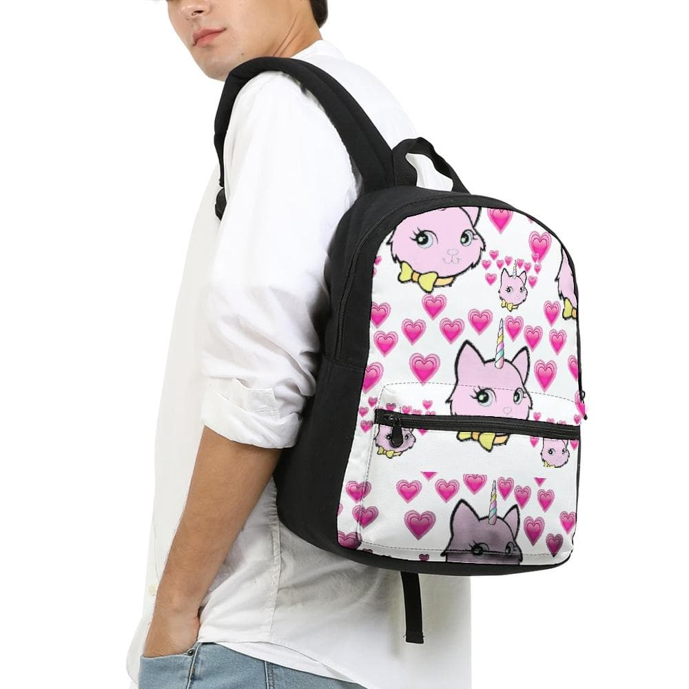 Bec & Friends Uni-Cat Small Canvas Backpack - Tie-Fly
