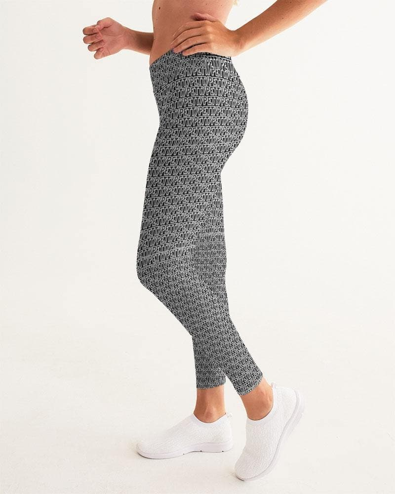Petty Repeat - Black  Women's Yoga Pant - Tie-Fly