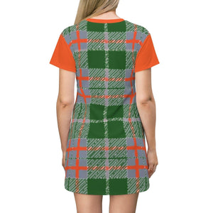 Tribute to Plaid T-shirt Dress - Tie-Fly