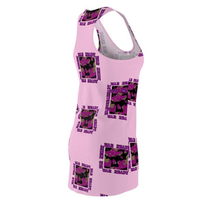 War Ready Women's Cut & Sew Racerback Dress Voluptuous (+) Size Available, All Over Prints -tie - fly