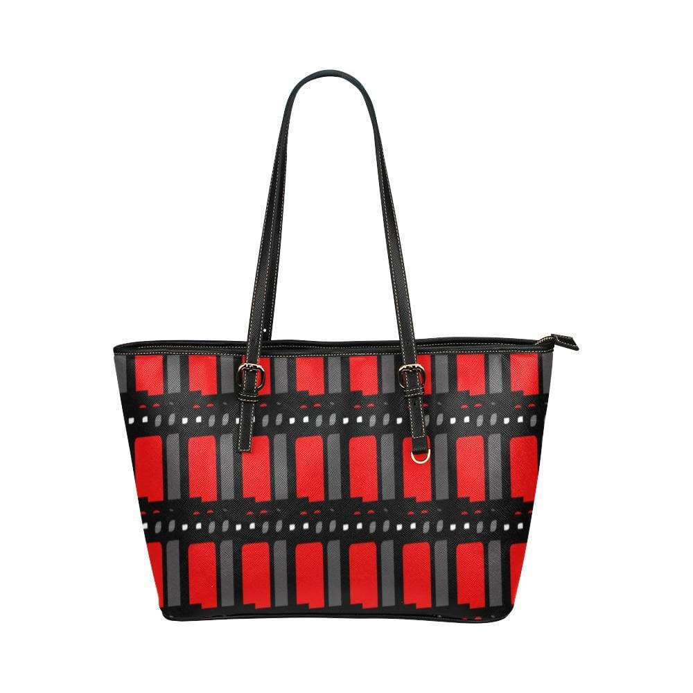 Edgy Leather Tote Bag - Tie-Fly
