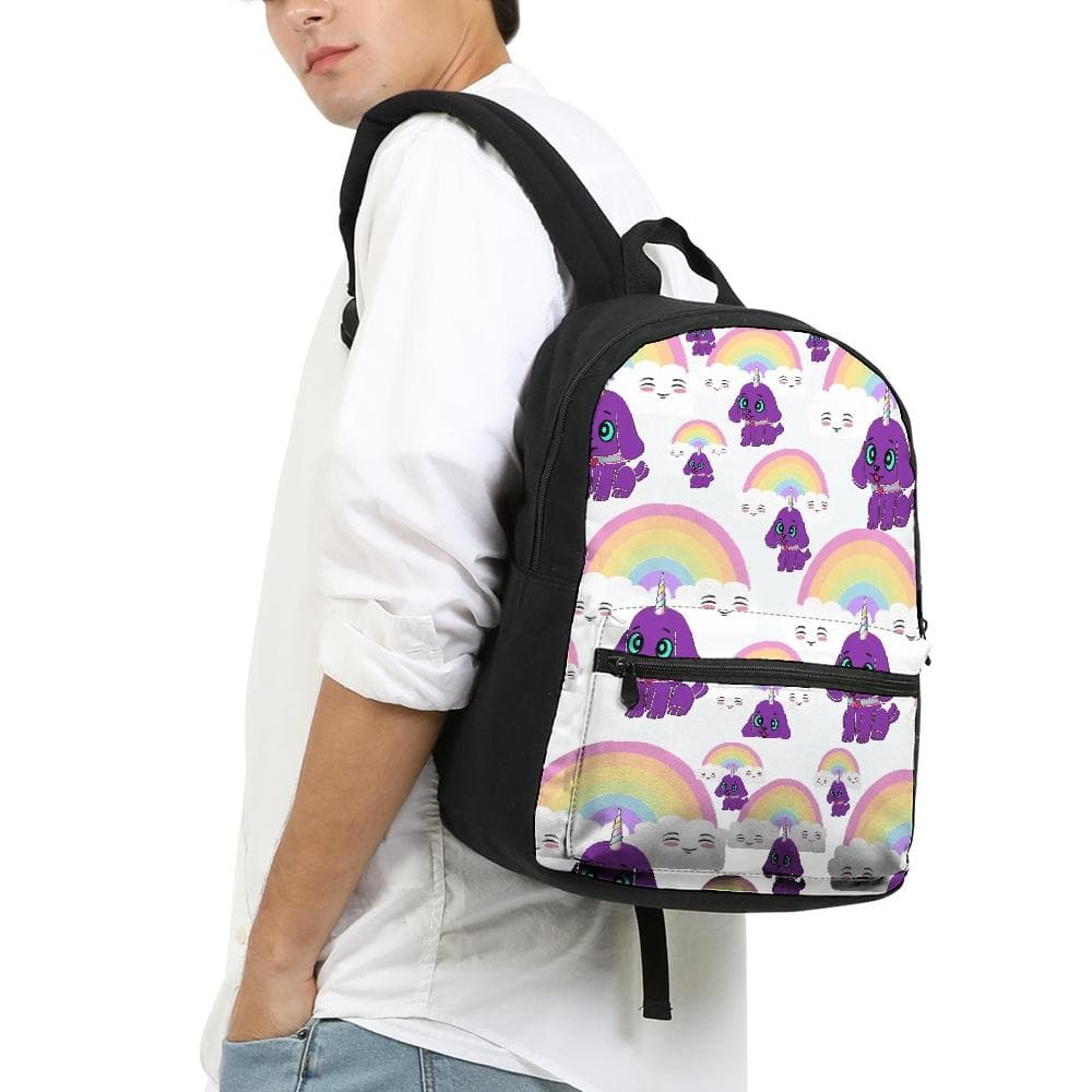 Bec's Uni-Dog Small Canvas Backpack - Tie-Fly