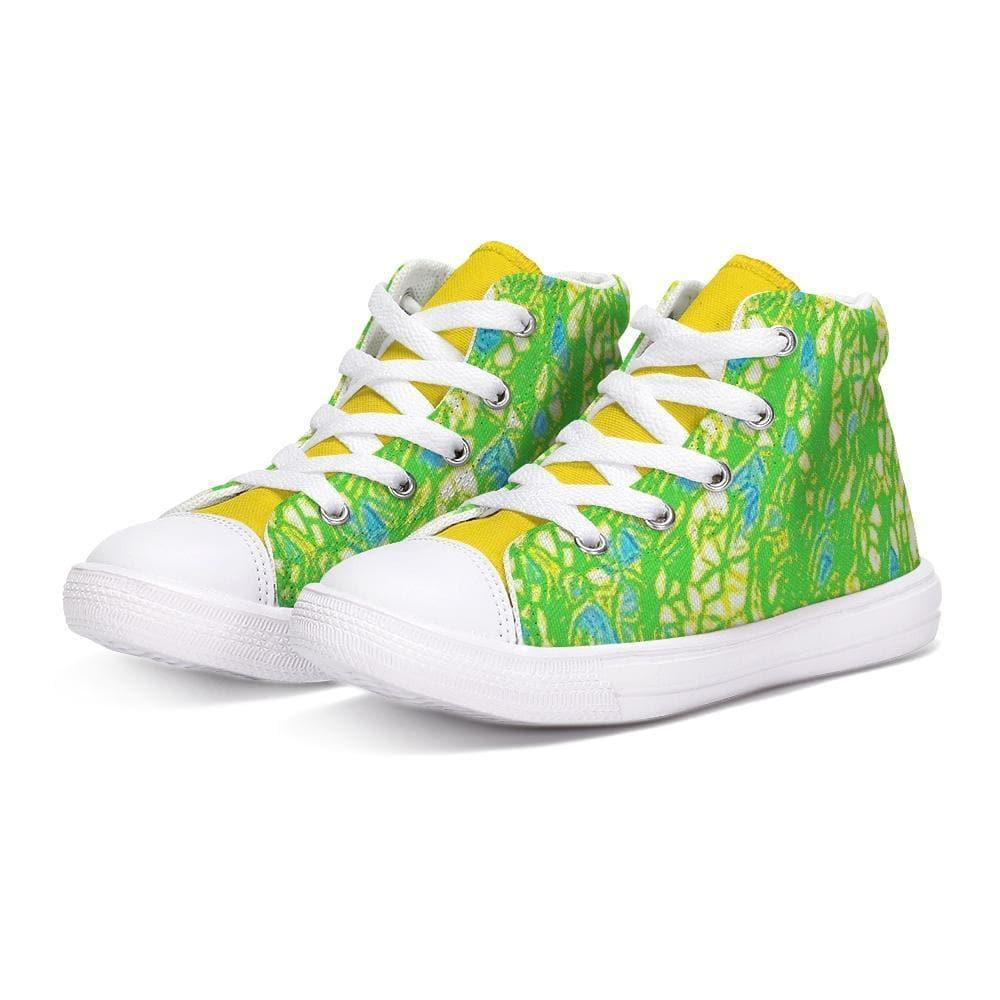 Teacher's Pet Collection: Royal Pallette Kids Hightop Canvas Shoe - Tie-Fly
