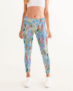 Midnight Floral  Women's Yoga Pant - Tie-Fly