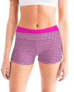 Petty  Women's Mid-Rise Yoga Shorts - Tie-Fly