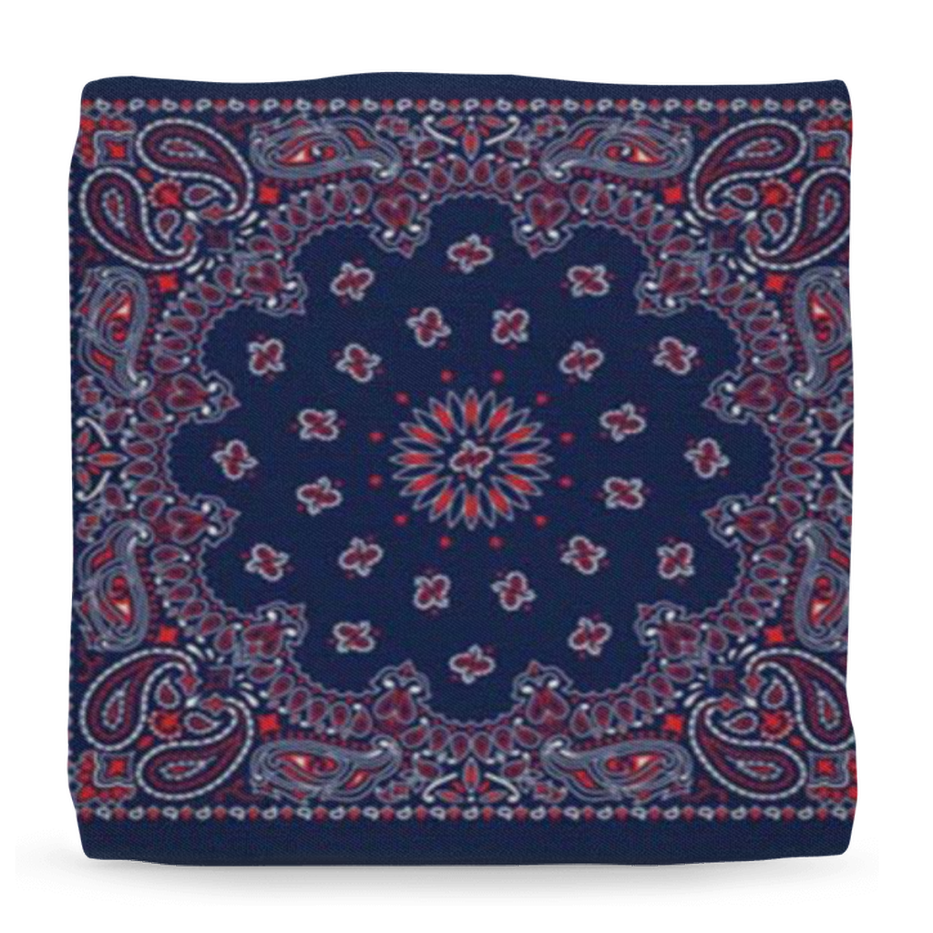 Bandana Branded Home Ottomans - Tie-Fly