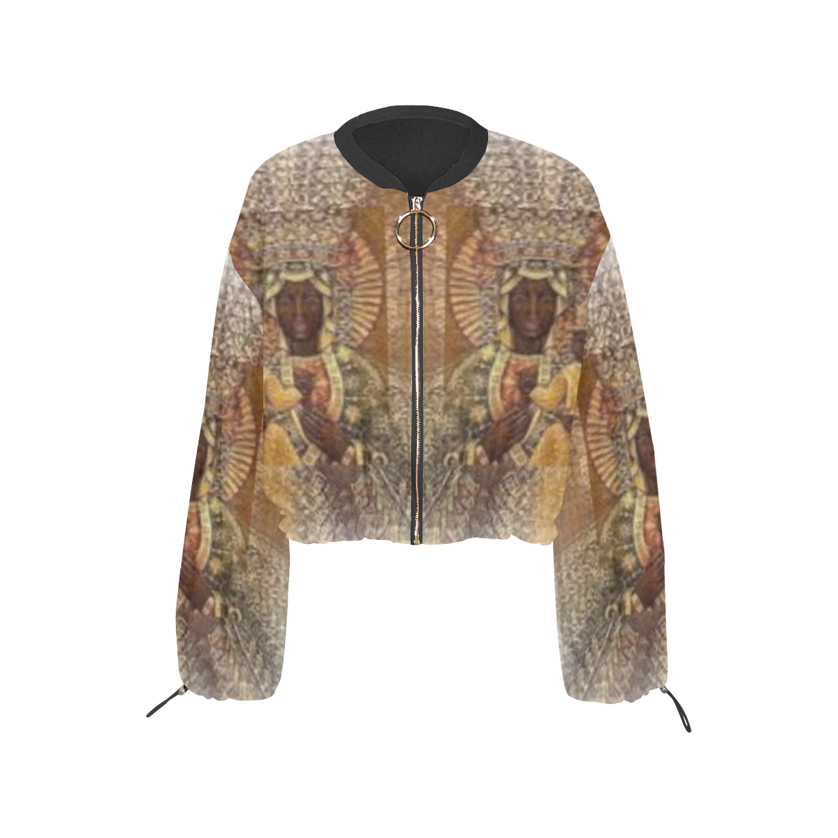 Black Madonna Cropped Chiffon Jacket - 5 variations