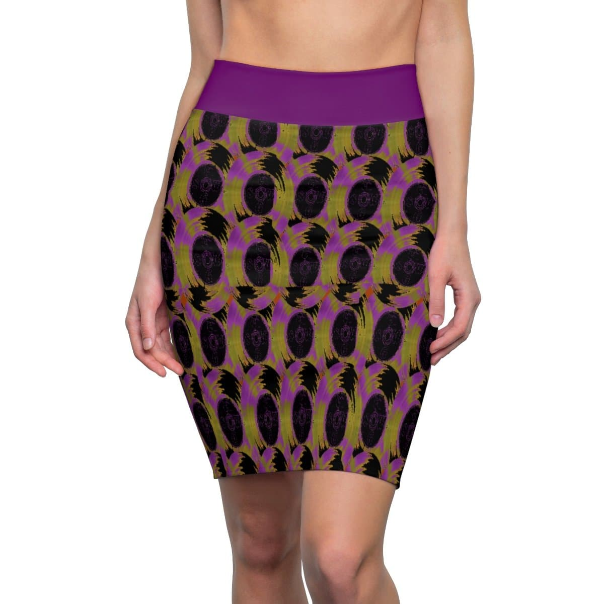 Abstract 3 Women's Pencil Skirt Voluptuous (+) Size Available - Tie-Fly