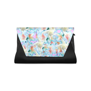 Midnight Floral Clutch - Tie-Fly