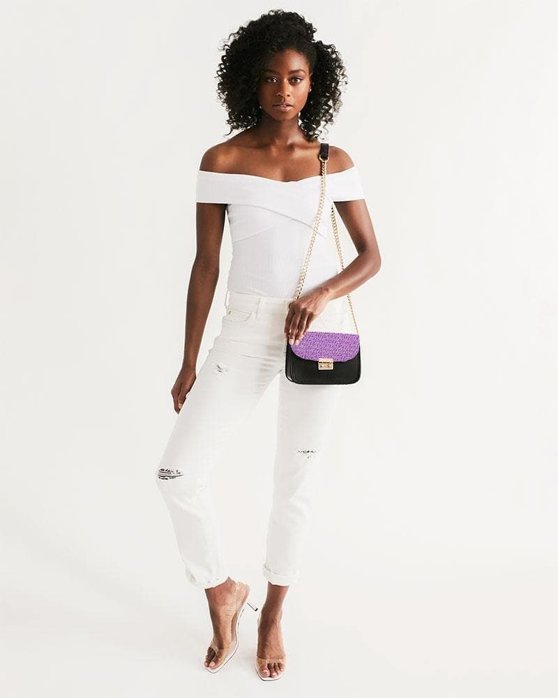 Petty Repeat - Purple Small Shoulder Bag - Tie-Fly