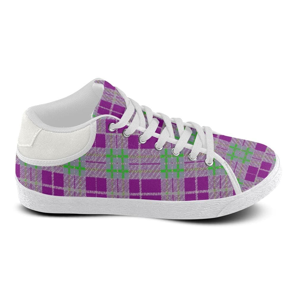 Tribute to Plaid Women's Chukka Canvas Shoe - Tie-Fly