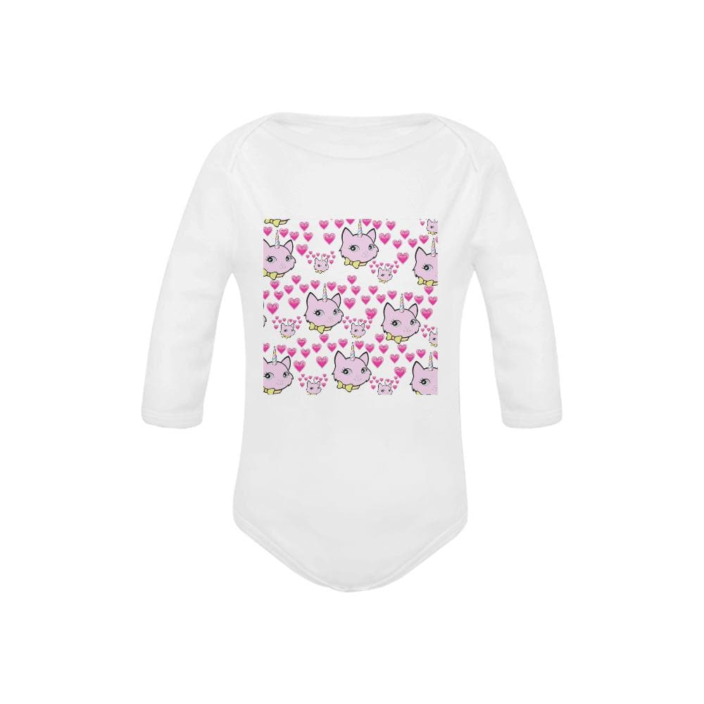 Bec & Friends Uni-Cat Baby's Organic Long Sleeve One Piece - Tie-Fly