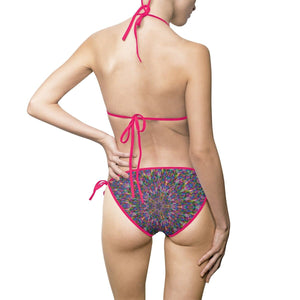 Psygyro Women's Bikini Swimsuit Volutpuous (+) Size Available - Tie-Fly