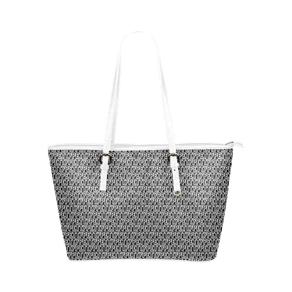 Petty Repeat Leather Tote - Tie-Fly