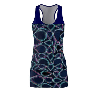 Pure Hydro Women's Cut & Sew Racerback Dress Voluptuous (+) Size Available, All Over Prints -tie - fly