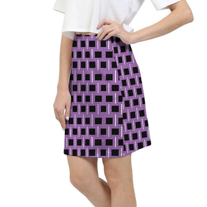 Royal Geo 2 Mini Women's Mini Skirt - Tie-Fly