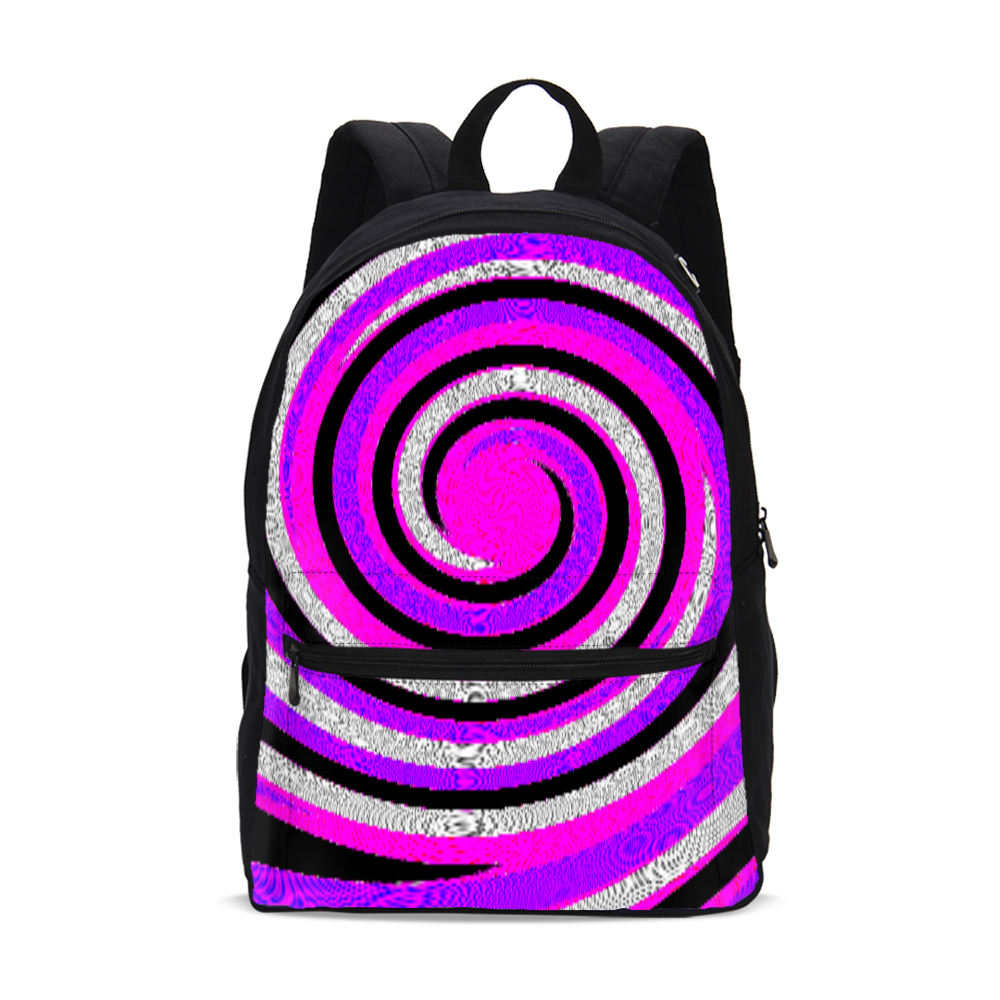 Teacher's Pet Royal Swirl  Small Canvas Backpack - Tie-Fly