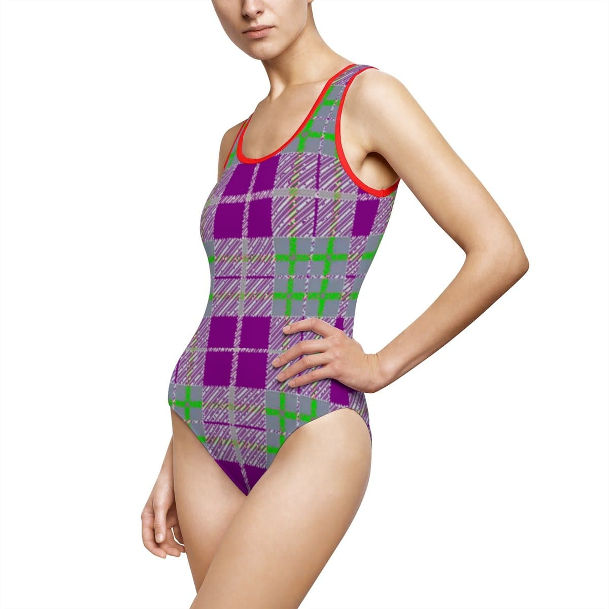 Tribute to Plaid Women's Classic One-Piece Swimsuit - TFC&H Co.