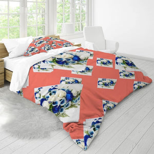 Floral II Home King Duvet Cover Set - Tie-Fly