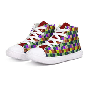 Abstract Kids Kids Hightop Canvas Shoe - Tie-Fly