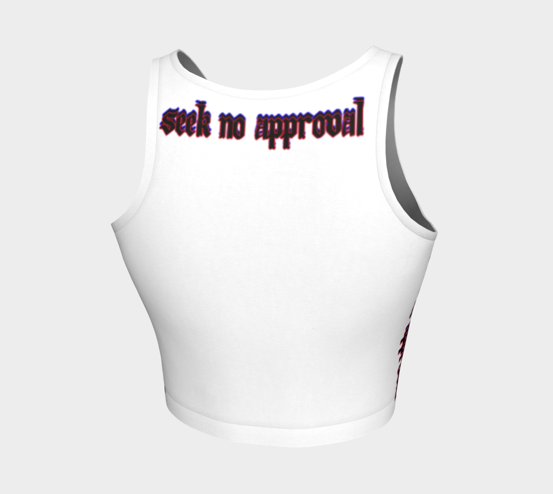 Seek No Approval Crop Top, Athletic Crop Top -tie - fly