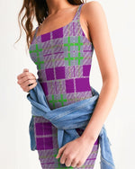 Load image into Gallery viewer, Tribute to Plaid Women's Midi Bodycon Dress - Tie-Fly