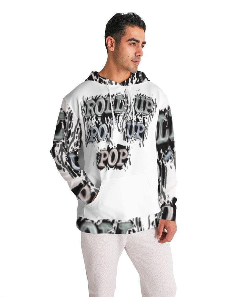 Roll Up Po' Up Pop News Edition Men's Hoodie - Tie-Fly