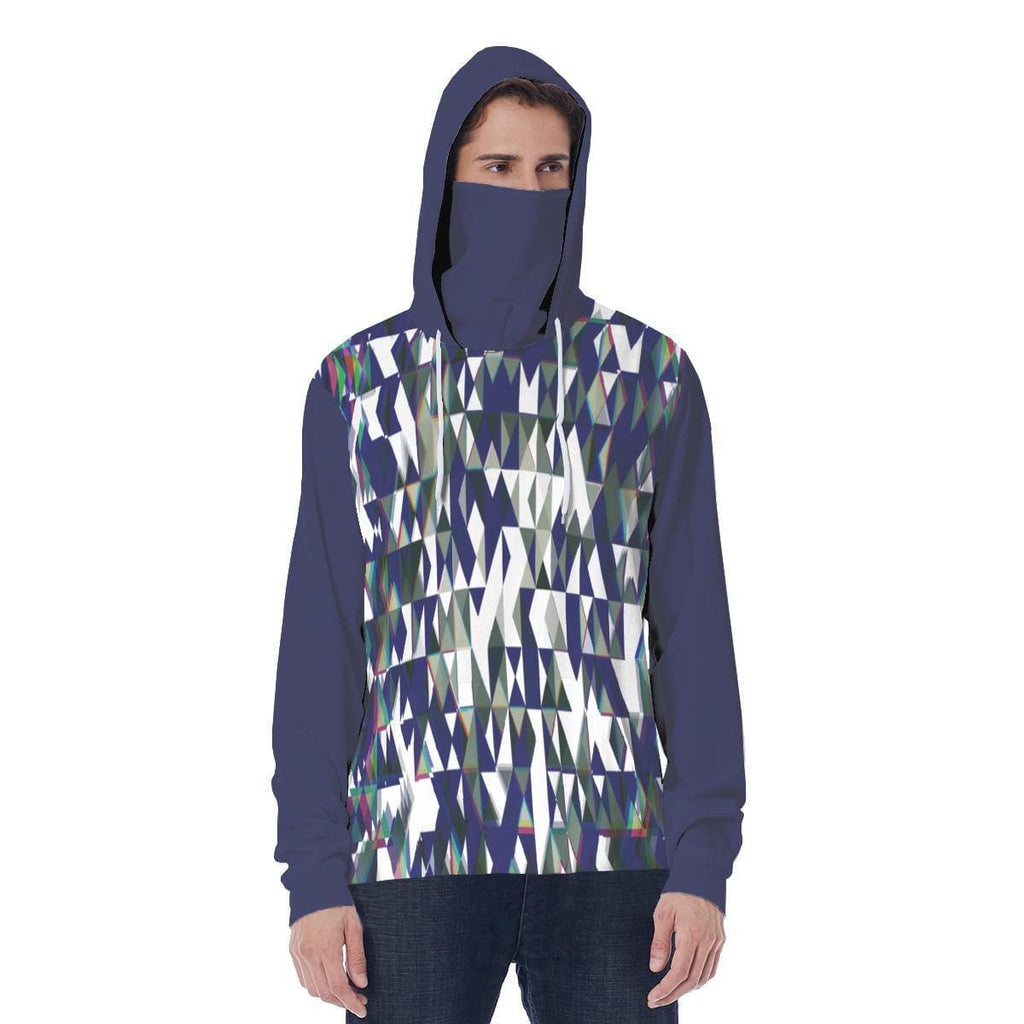 Fractured Unisex Hoodie w/ Built in Mask - Tie-Fly