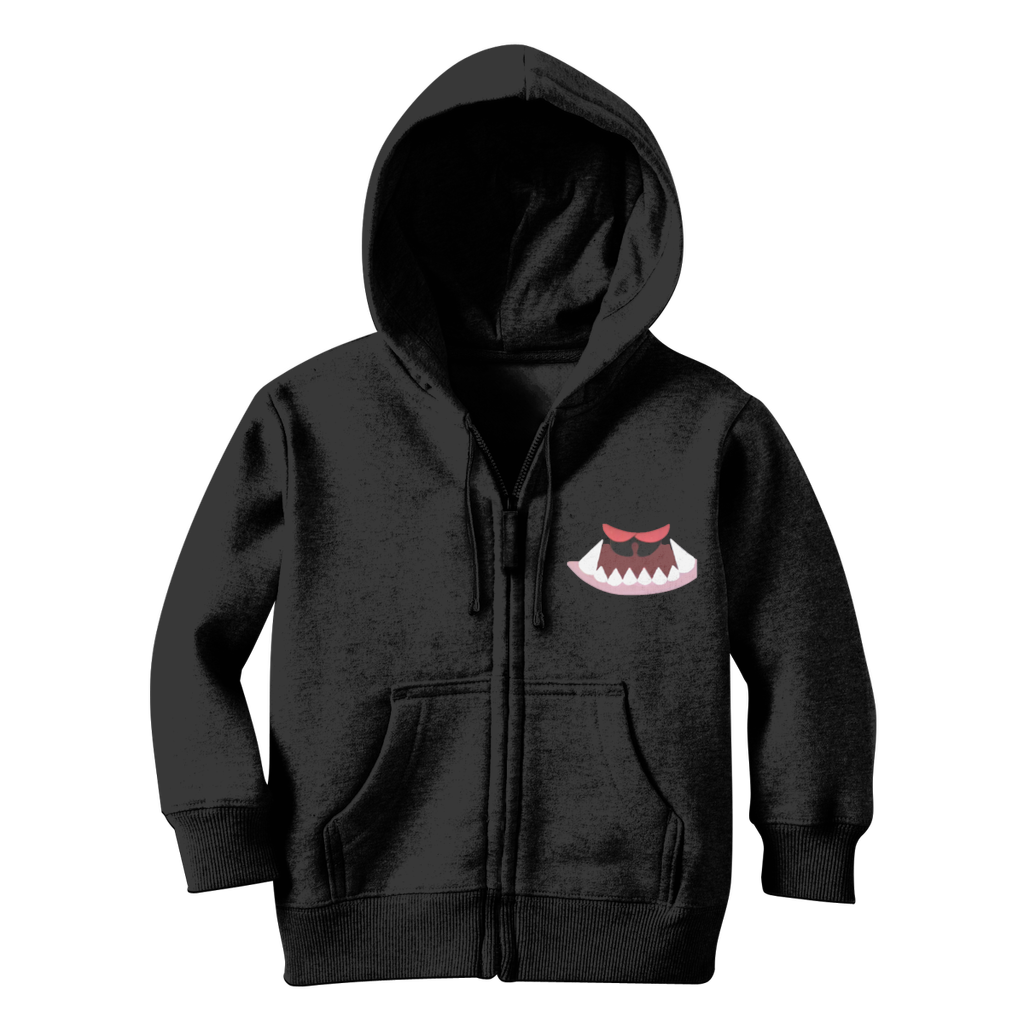 Monster Mouth Monster Kids Classic Zip Hoodie - Tie-Fly