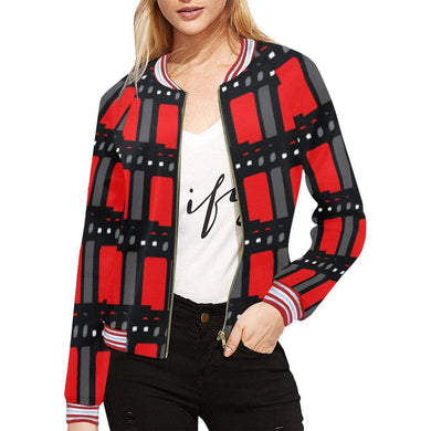 Edgy Horizontal Stripes Jacket