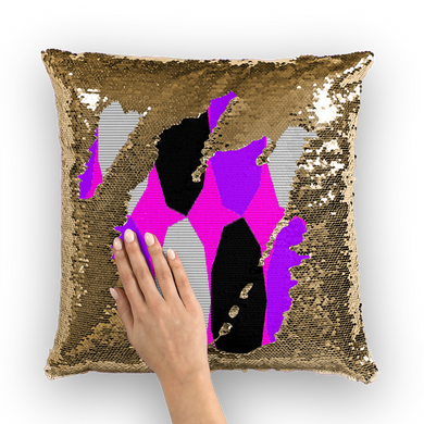 Royal Geo 3 Sequin Cushion Cover