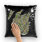 Load image into Gallery viewer, Leopard Splash Leopard Splash Sequin Cushion Cover - Tie-Fly