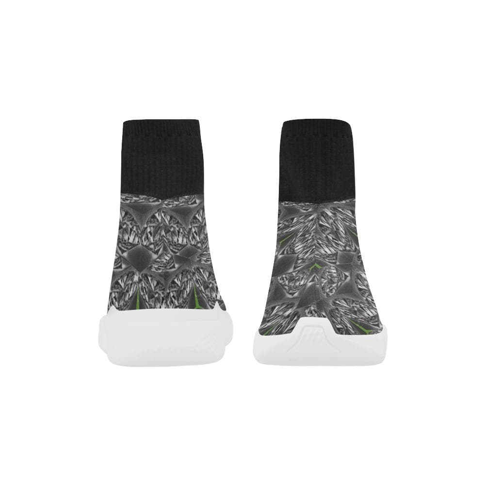 TSWG(Tough Smooth Well Groomed) Black Ice Monoceros Stretch Slipper Sock Men's Shoes - Tie-Fly