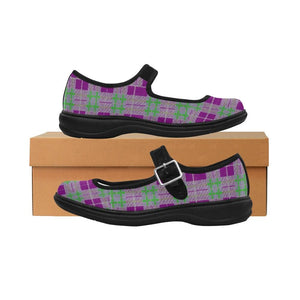 Tribute to Plaid Satin Mary Jane Flat - Tie-Fly