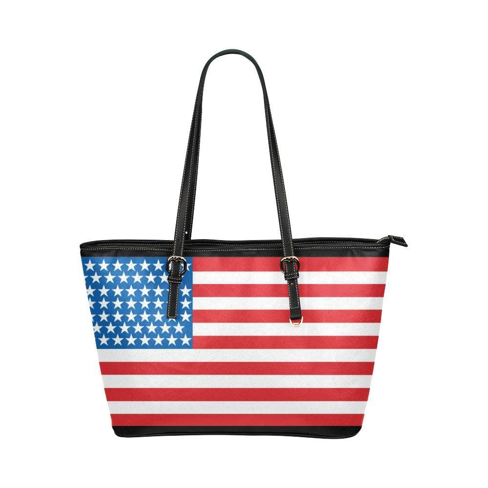 US, ZA, CA Flag Leather Tote - Tie-Fly