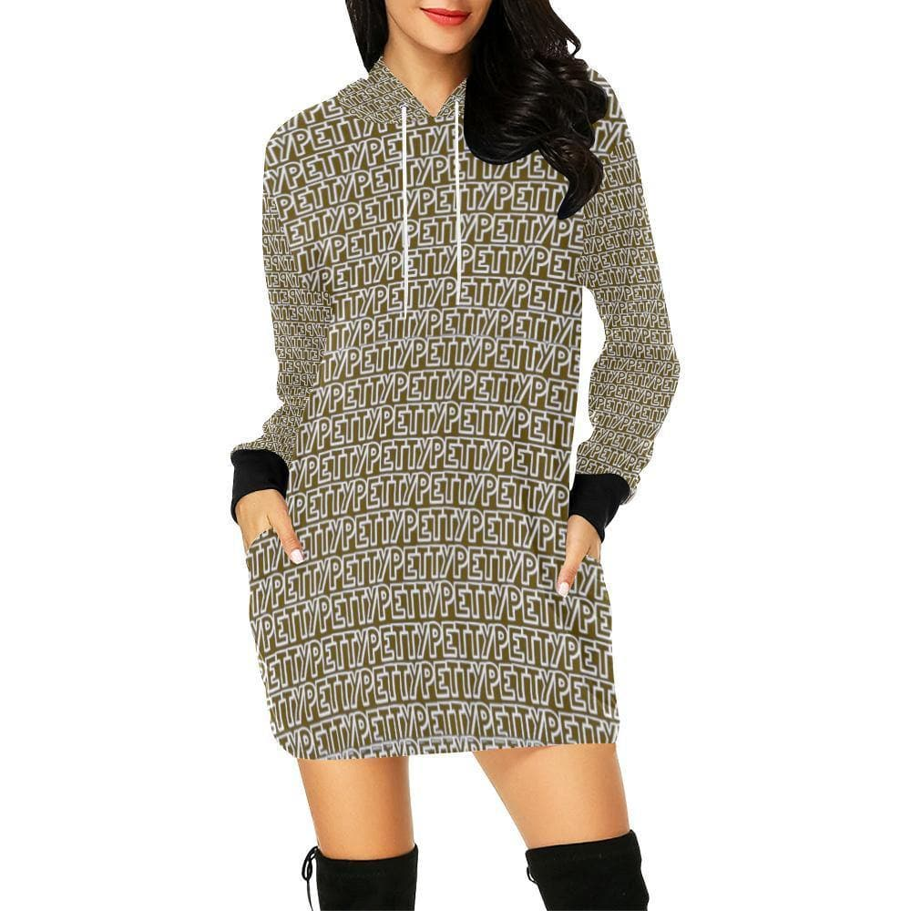 Petty Repeat Hoodie Mini Dress - Tie-Fly