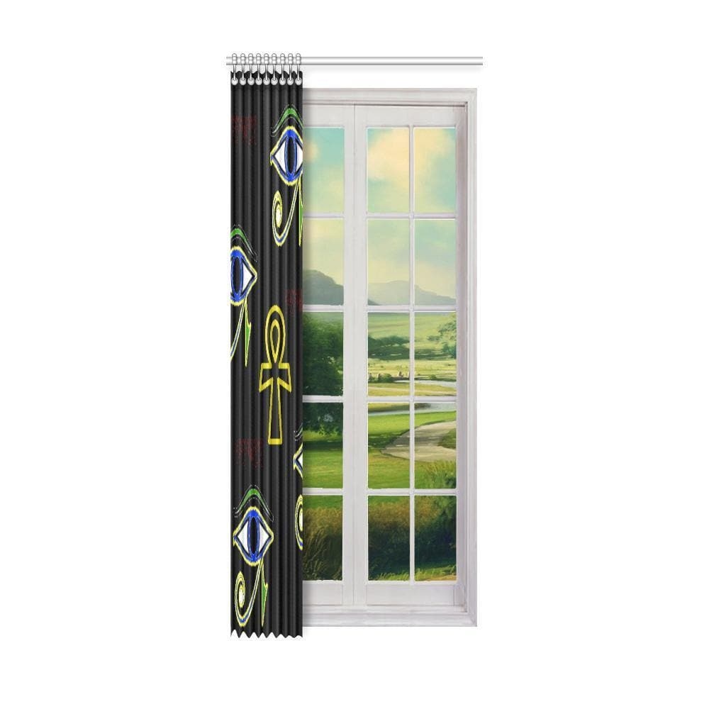 "Power Window Curtain 52"" x 120"" (One Piece) - Tie-Fly"