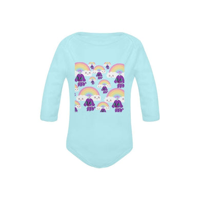 Bec's Uni-Dog Baby's Organic Long Sleeve One Piece - Tie-Fly
