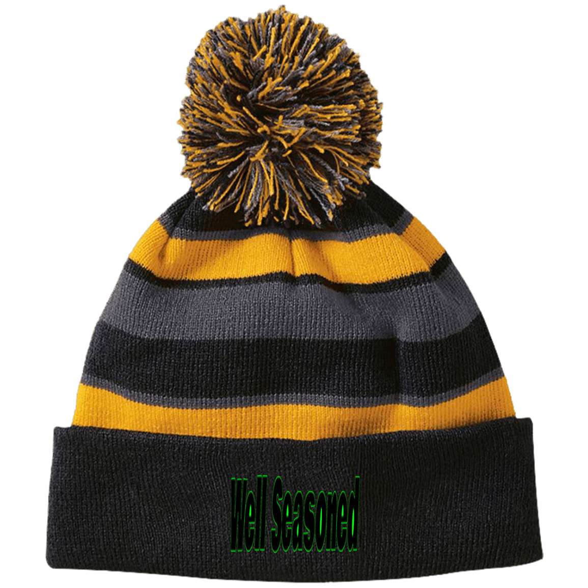 Well Seasoned Holloway Striped Beanie with Pom - Tie-Fly