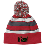 Load image into Gallery viewer, Well Seasoned Holloway Striped Beanie with Pom - Tie-Fly