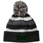 Well Seasoned Holloway Striped Beanie with Pom, Hats -tie - fly
