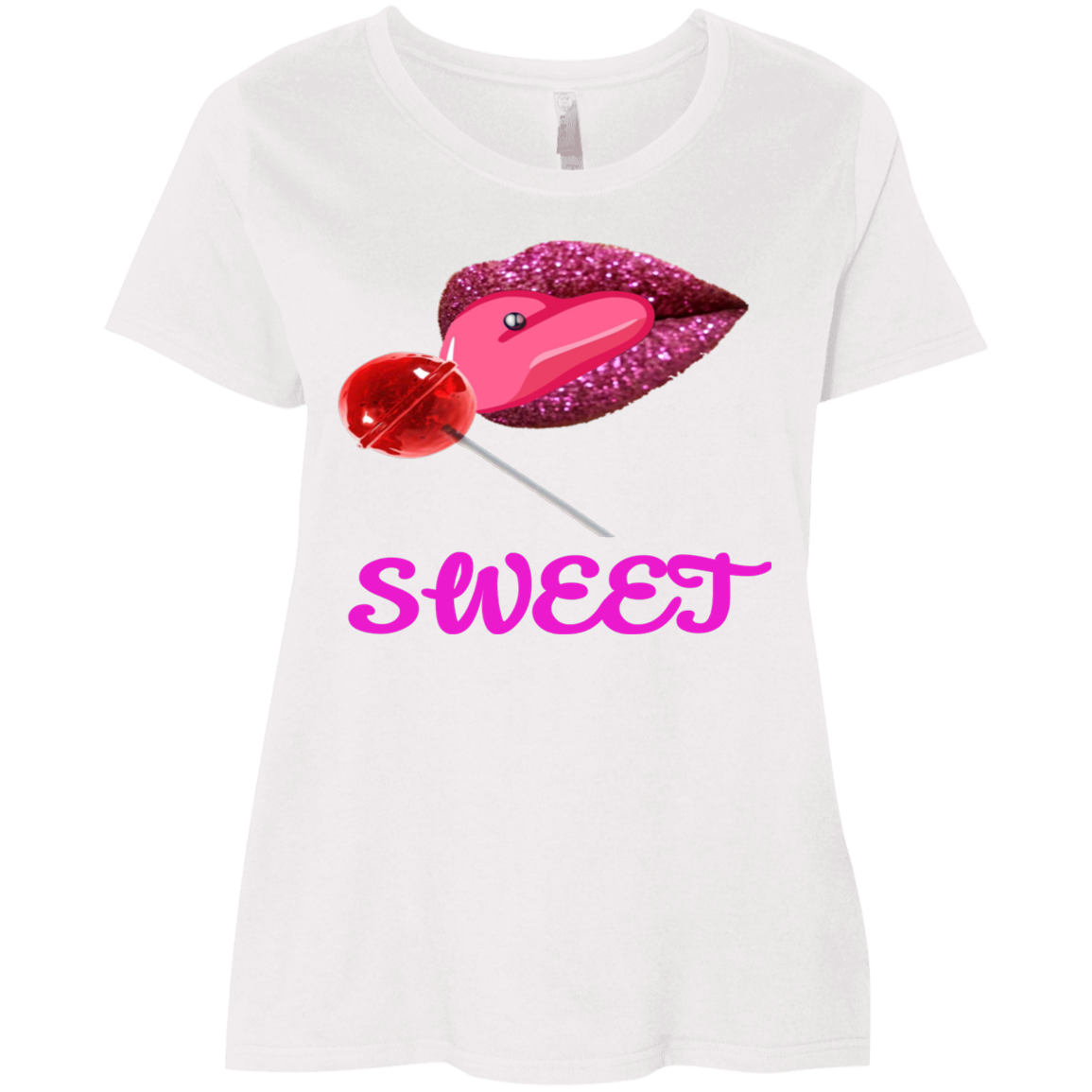Sweet Clothing Ladies' Curvy T-Shirt - Tie-Fly