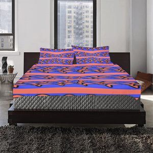 "Coral Home 3-Piece Bedding Set (1 Duvet Cover 86""x70""; 2 Pillowcases 20""x30"")(One Side) - Tie-Fly"