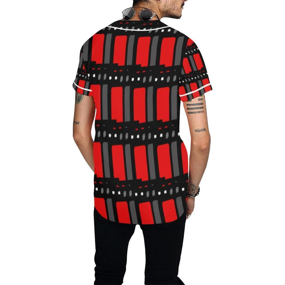 Edgy Men's Baseball Jersey - Tie-Fly
