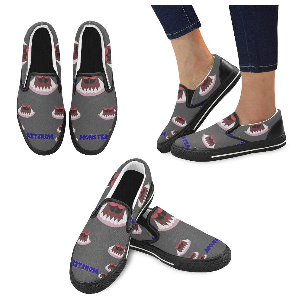 Teacher's Pet Collection: Monster Kids Slip - on Canvas Kid's Shoe - Tie-Fly