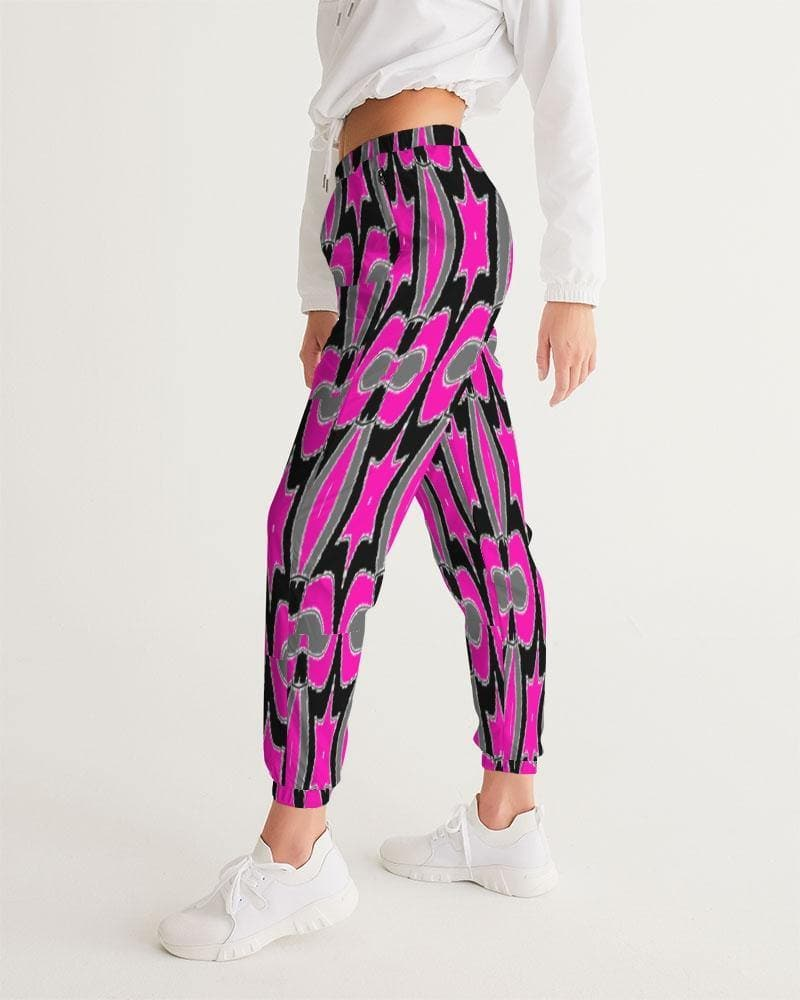 Pink Star  Women's Track Pants - Tie-Fly
