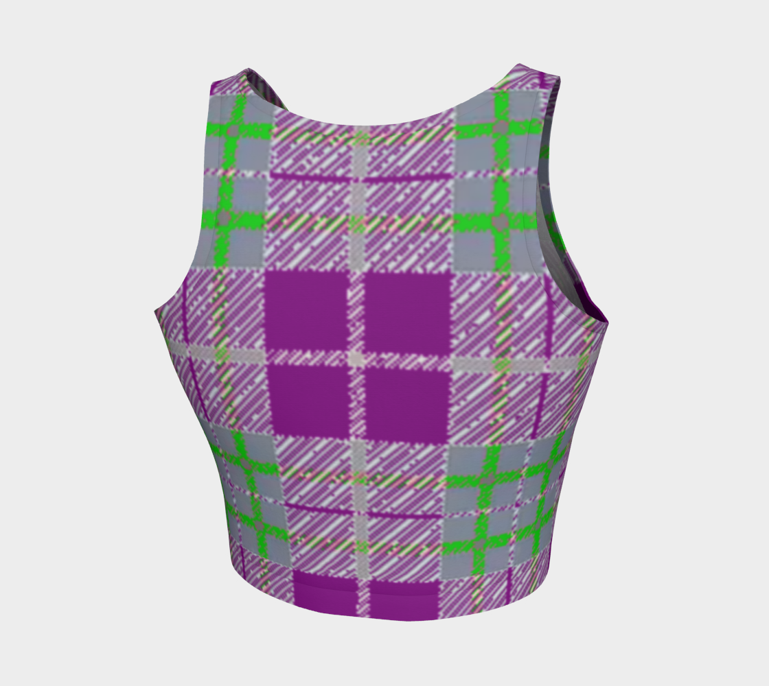 Tribute to Plaid Crop Top - Purple - Tie-Fly