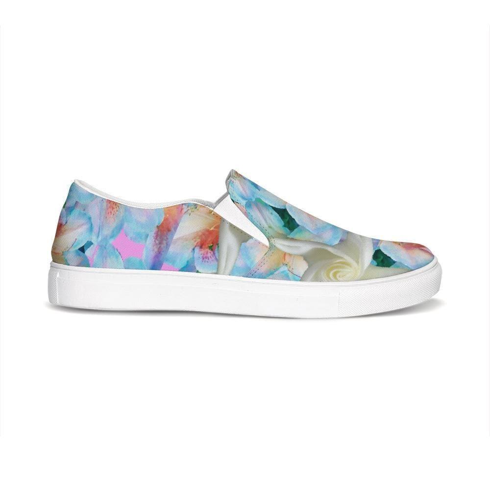 Midnight Floral  Slip-On Canvas Shoe - Tie-Fly