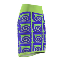 Load image into Gallery viewer, Well Seasoned Women's Pencil Skirt Voluptuous (+) Size Available, All Over Prints -tie - fly